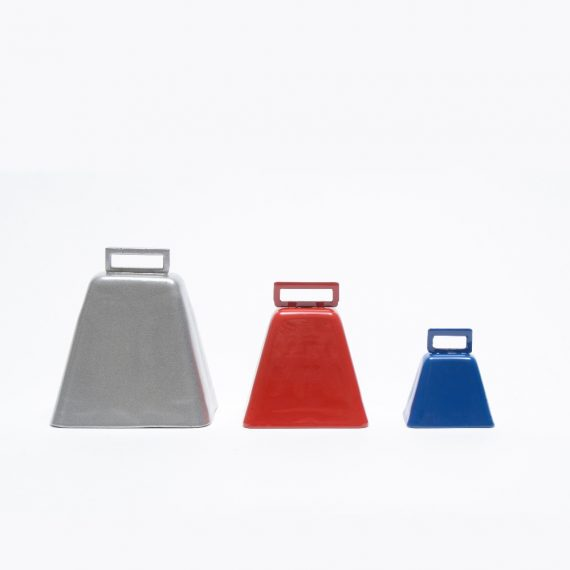 Color Powdercoated Long Distance Cowbells in a variety of sizes