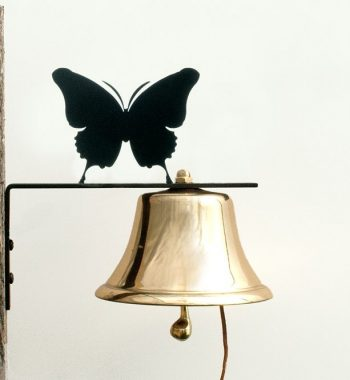 Bevin Patio Bell with Butterfly