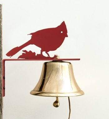 Bevin Patio Bell with Red Cardinal